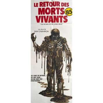 THE RETURN OF THE EVIL DEAD Original Movie Poster- 23x63 in. - 1985 - Dan O'Bannon, Clu Gulager