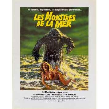 LES MONSTRES DE LA MER Synopsis- 21x30 cm. - 1980 - Doug McClure, Barbara Peeters