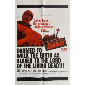 THE PLAGUE OF THE ZOMBIES Original Movie Poster- 27x41 in. - 1966 - John Gilling, André Morell
