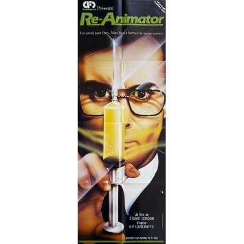RE-ANIMATOR Original Movie Poster- 23x63 in. - 1985 - Stuart Gordon, Jeffrey Combs