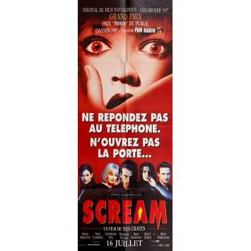 SCREAM Original Movie Poster- 23x63 in. - 1996 - Wes Craven, Neve Campbell