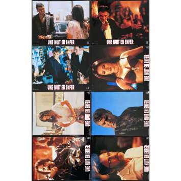 FROM DUSK TILL DAWN Original Lobby Cards x8 - 9x12 in. - 1996 - Robert Rodriguez, George Clooney