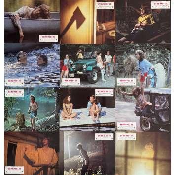 VENDREDI 13 Photos de film x12 - 21x30 cm. - 1980 - Kevin Bacon, Sean S. Cunningham