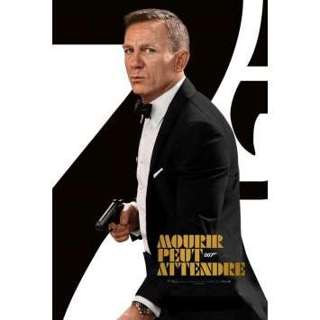 "NO TIME TO DIE French Movie Poster 15""x21"" - 2021 - James Bond, Daniel Craig"