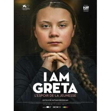I AM GRETA Affiche de film- 40x54 cm. - 2021 - Greta Thunberg, Nathan Grossman