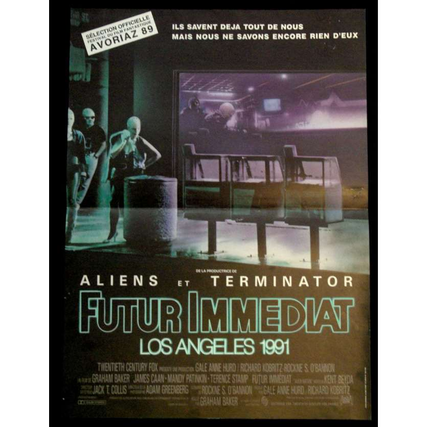 FUTUR IMMEDIAT Affiche FR '86 James Caan Alien Nation Vintage Poster