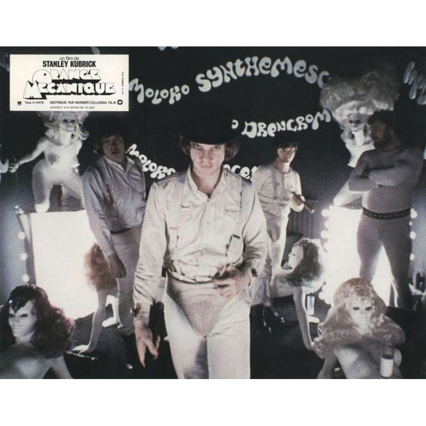 CLOCKWORK ORANGE French Lobby Card N1 '71 Stanley Kubrick