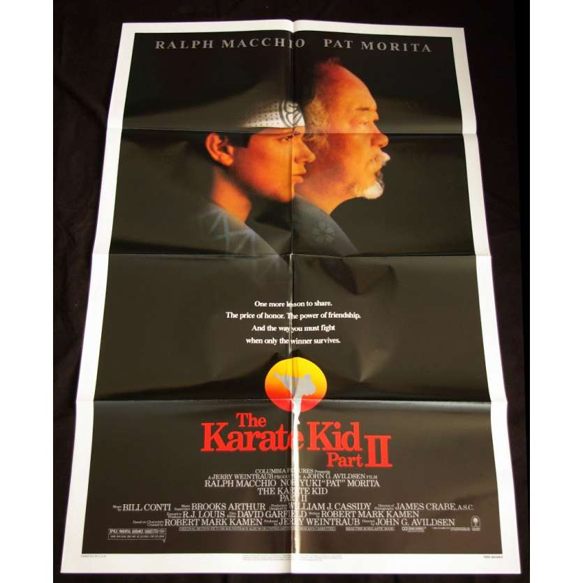 KARATE KID II Affiche US '83 Macchio, Morita, Vintage Movie Poster
