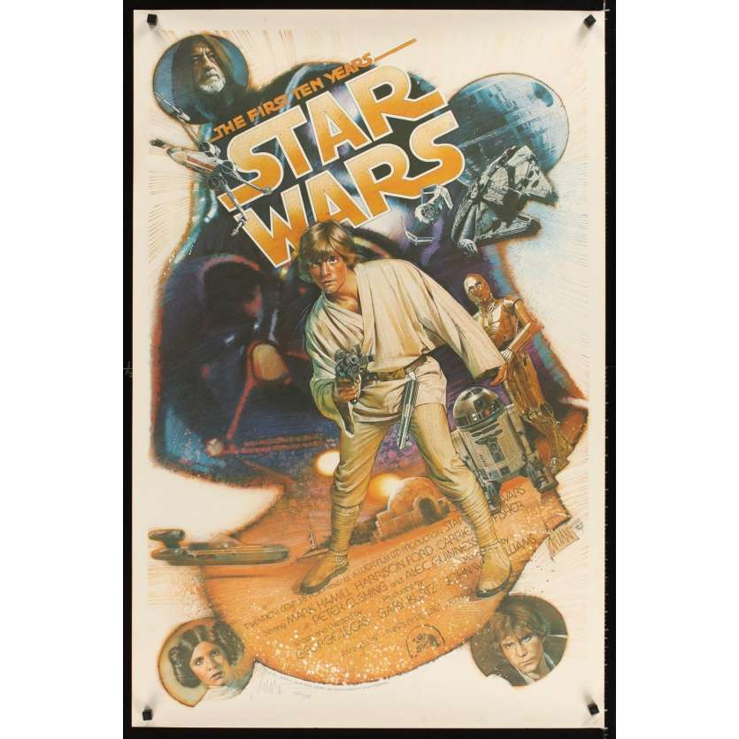 STAR WARS THE FIRST TEN YEARS Kilian signed & numbered 2456/3000 1sh '87 by Drew Struzan!