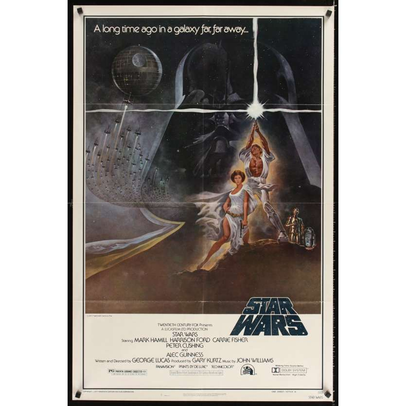 STAR WARS Original Movie Poster 3rd printing style A 1sh '77