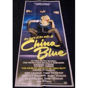 CHINA BLUE '84 Affiche 60x160 Kathleen Turner Ken Russel Movie Poster