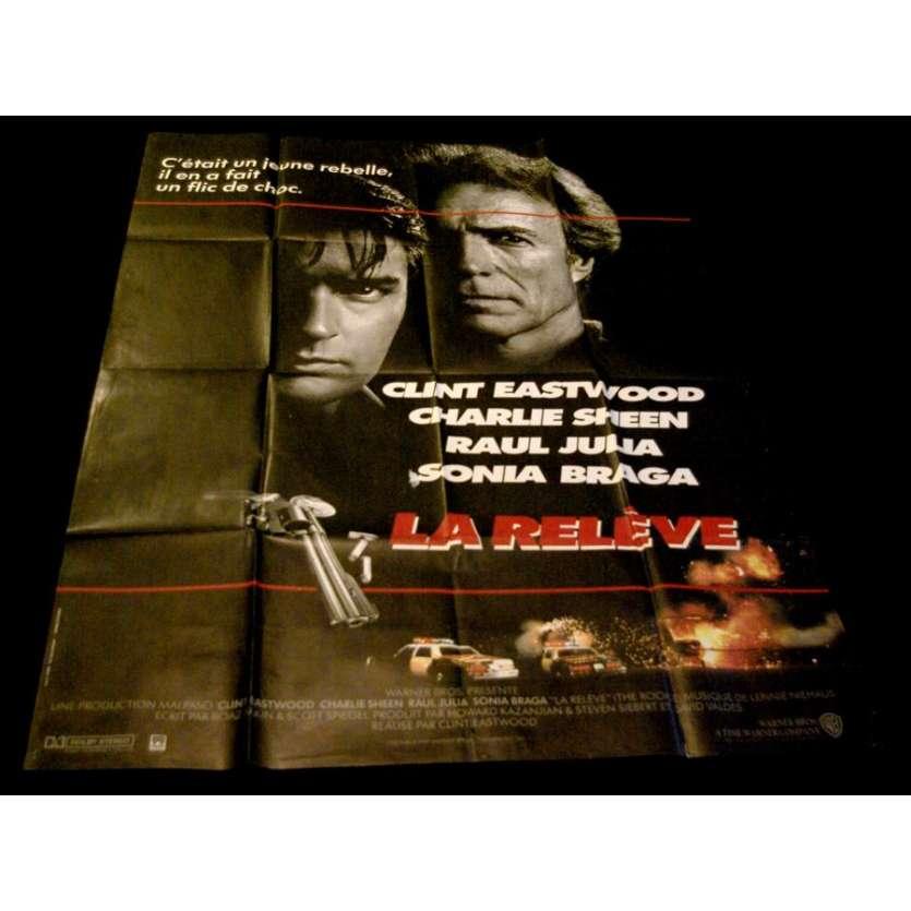 LA RELEVE '83 Affiche 120x160 Clint Eastwood Vintage Movie Poster