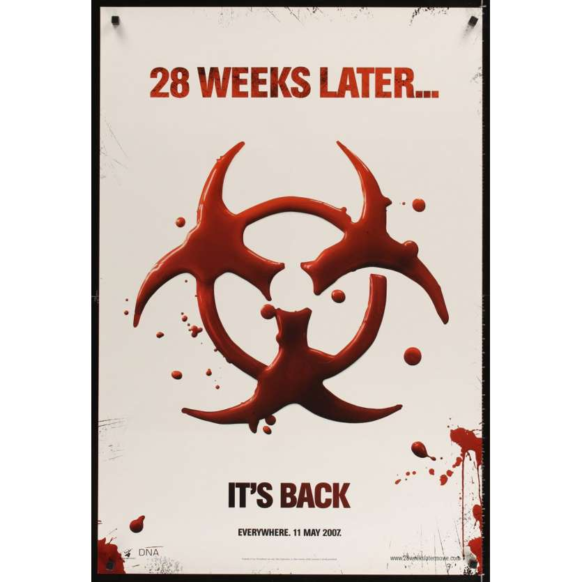 28 WEEKS LATER teaser DS 1sh '07 Robert Carlyle, zombies