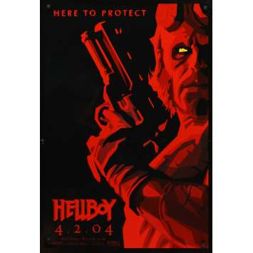 HELLBOY Affiche US Rare '04 Mike Mignola, Guillermo Del Toro, Perlman Movie Poster