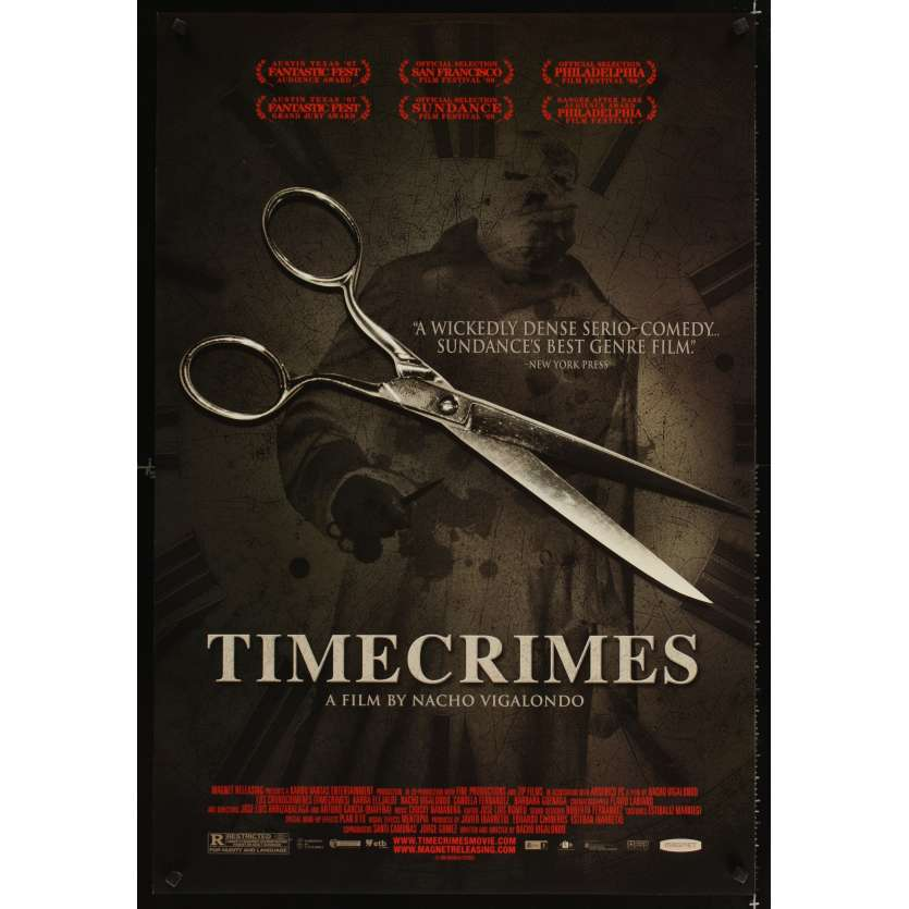 TIMECRIMES DS 1sh '07 Los Cronocrimenes, spanish horror sci-fi