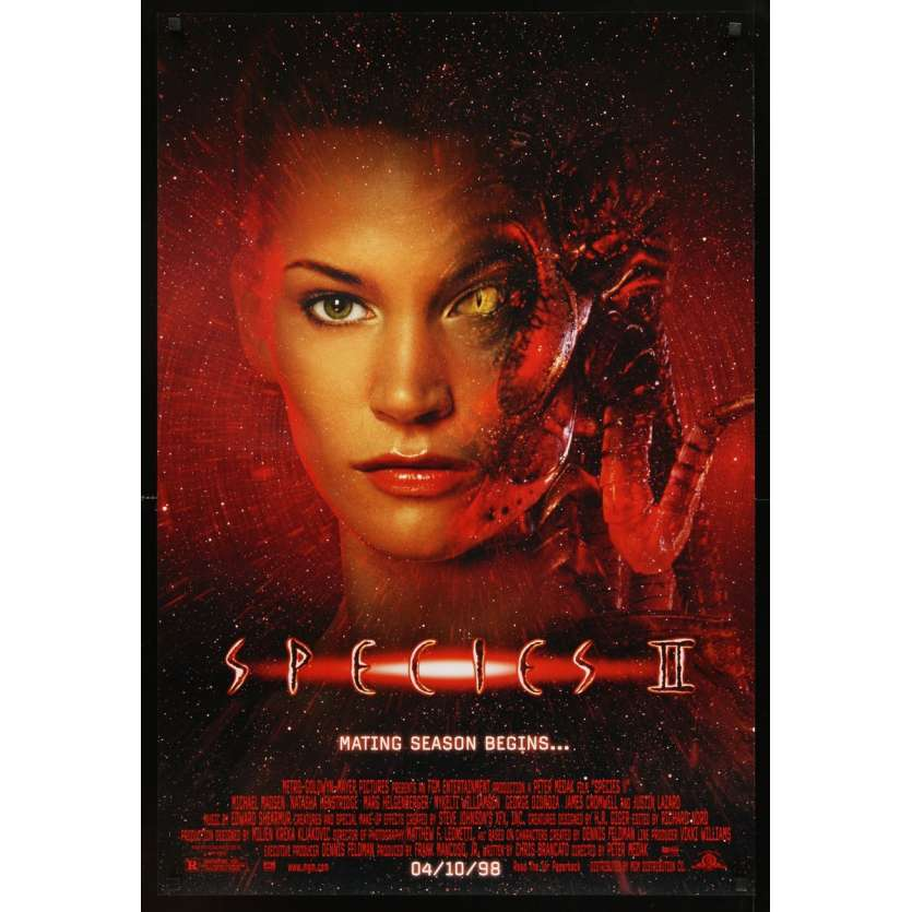 SPECIES II 1sh Movie Poster '98 Natasha Henstridge