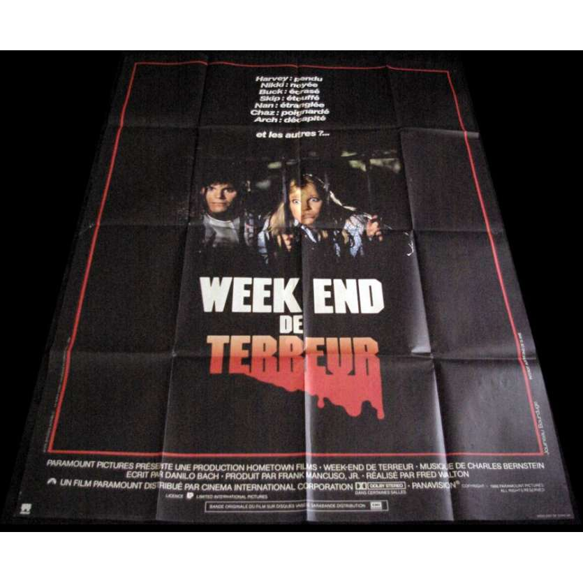 WEEKEND DE TERREUR Affiche 120x160 '86 April Fools Day Horror Movie Poster