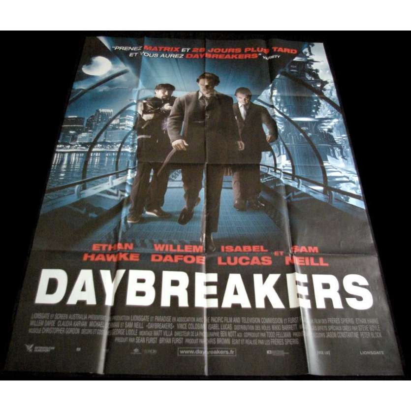 DAYBREAKERS Affiche 120x160 '09 Wilem Dafoe, Sam Neil, Vampire Movie Poster