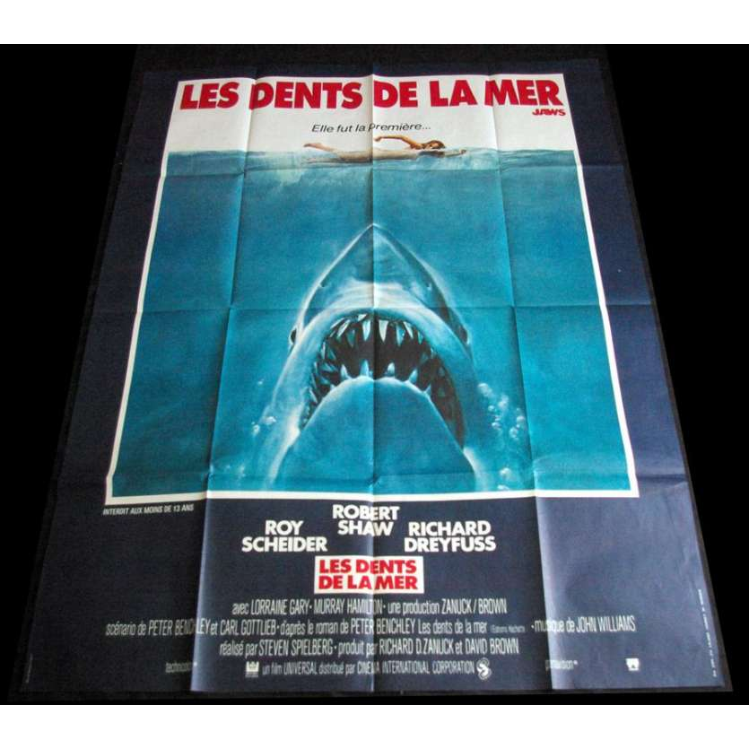 LES DENTS DE LA MER Affiche française 120x160 Steven Spielberg