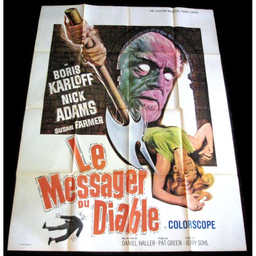 DIE MONSTER DIE! French 1P Movie Poster '65 Boris Karloff, H.P. Lovecraft