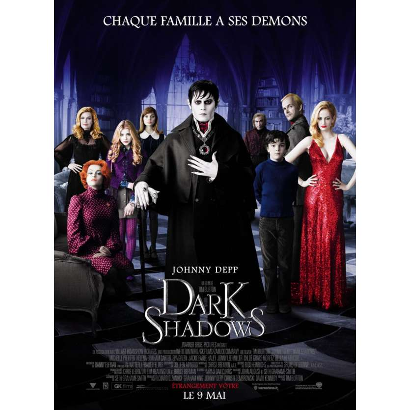 DARK SHADOWS French One Panel 47x63 '12 Tim Burton, Johnny Depp