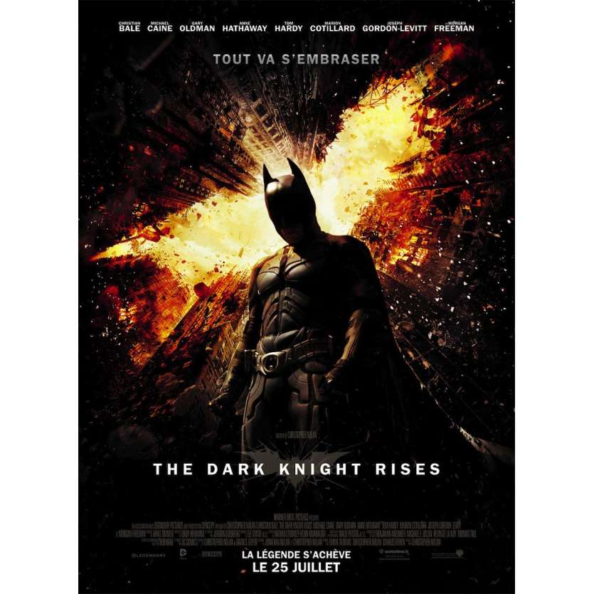 BATMAN: THE DARK KNIGHT RISES French One Panel 47x63 '12 Christopher Nolan