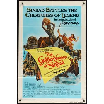 VOYAGE FANTASTIQUE DE SINBAD Affiche US '73, Ray Harryhausen Movie Poster