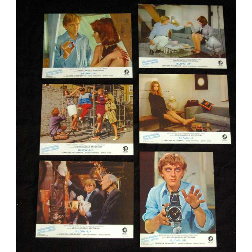 BLOW UP Photos d'exploitation FR R72 Antonioni, David Hemmings LC Lobby Cards
