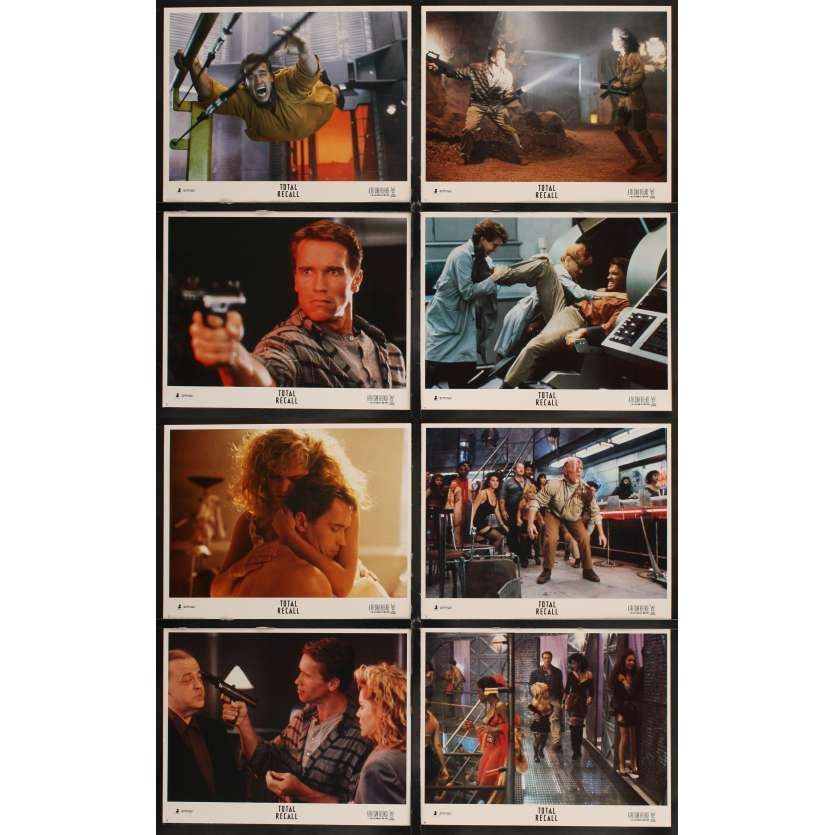 TOTAL RECALL 8 Lobby cards '90 Paul Verhoeven, Arnold Schwarzenegger LC's
