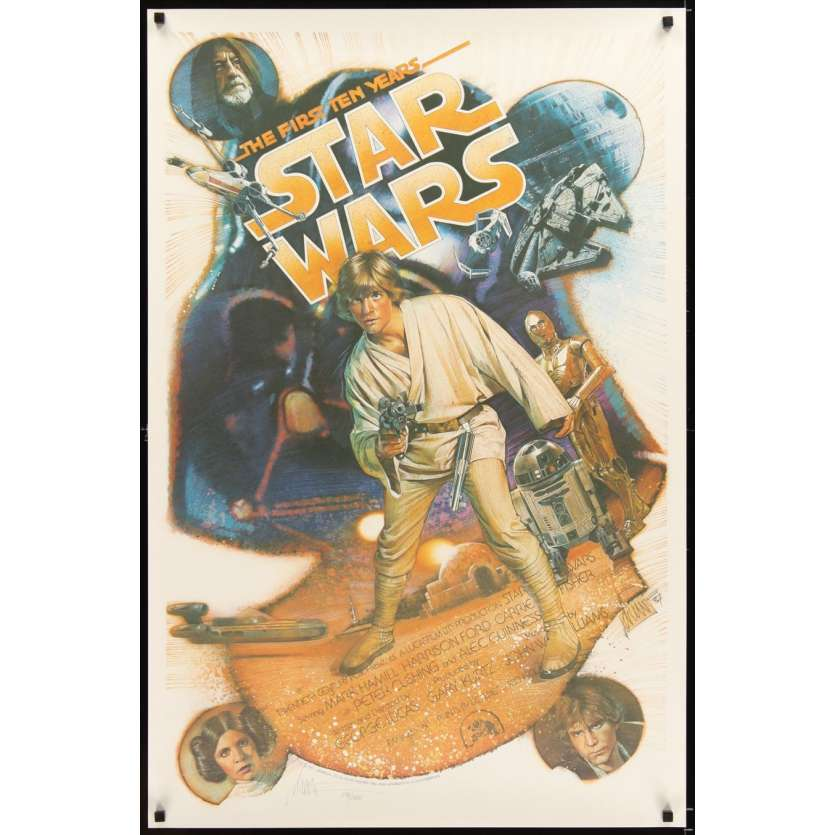 STAR WARS THE FIRST TEN YEARS Kilian signed & numbered Poster 1sh '87 by Drew Struzan!