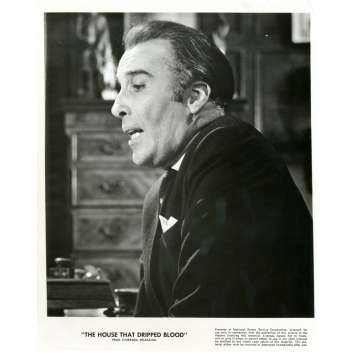 HOUSE THAT DRIPPED BLOOD 8x10 still '71 great profile close up of Christopher Lee!