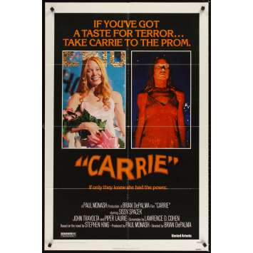 CARRIE Affiche Originale US '76 Brian de Palma Stephen King Movie Poster