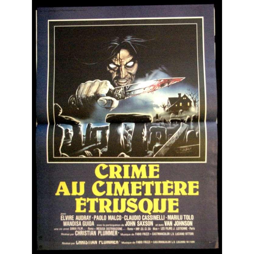 CRIME AU CIMETIERE ETRUSQUE '81 Affiche 40x60 Horreur Vintage Movie Poster