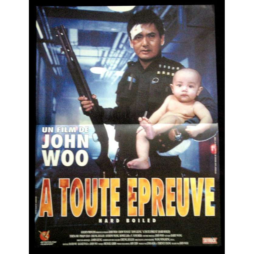 HARD BOILED French Movie Poster '92 15x23 John Woo, Chow yun fat