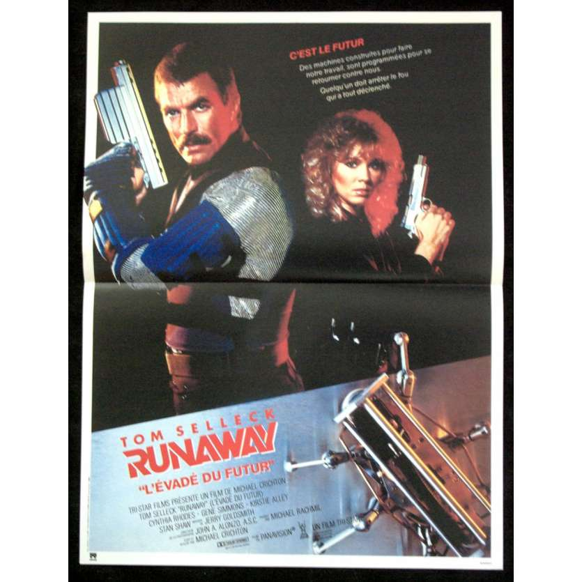 RUNAWAY French Movie Poster '84 15x23 Tom Selleck Sci-fi