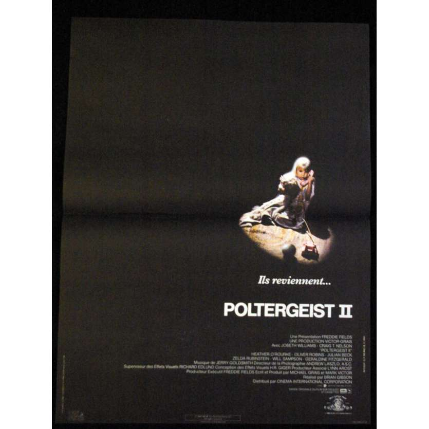 POLTERGEIST II French Movie Poster 15x21 '86 Heather O'Rourke, Original
