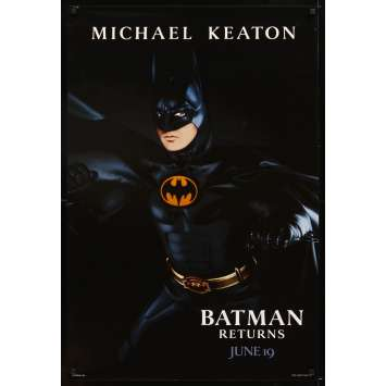 BATMAN 2 le défi Affiche Originale US '92 Tim Burton, Michael Keaton returns Movie Poster