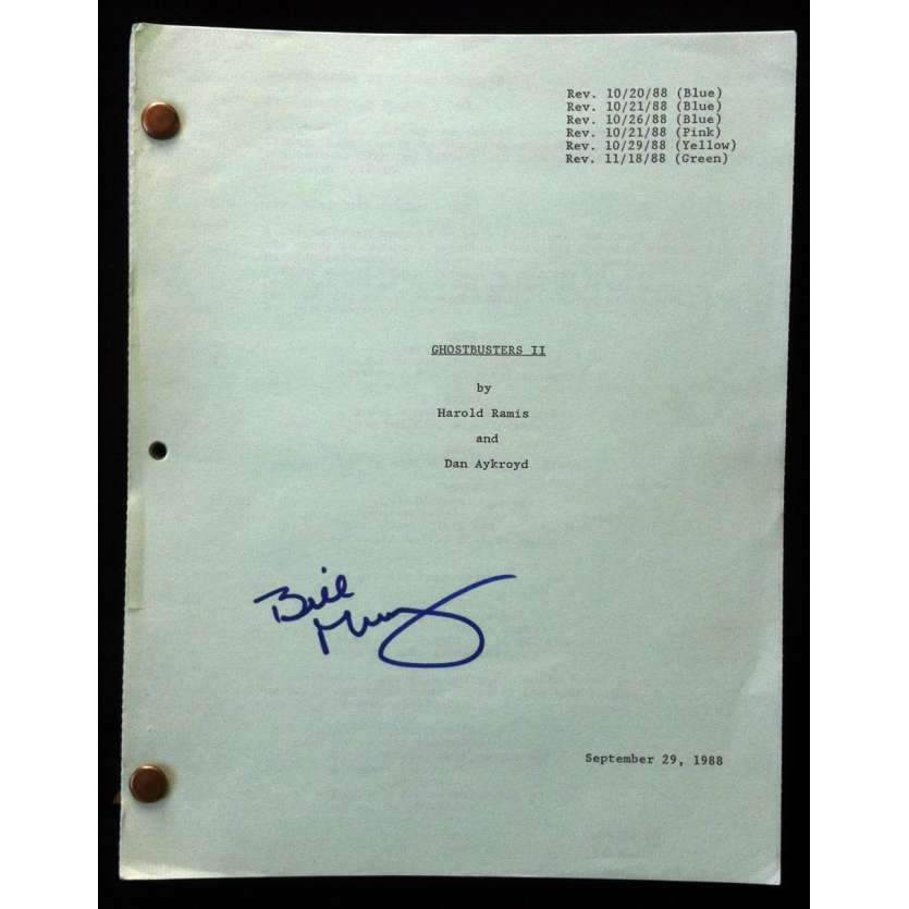 GHOSTBUSTERS II Original Signed Movie Script '88 by Bill Murray
