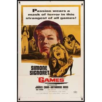 LE DIABLE A TROIS Affiche Originale US '67 Simone Signoret, James Caan movie poster