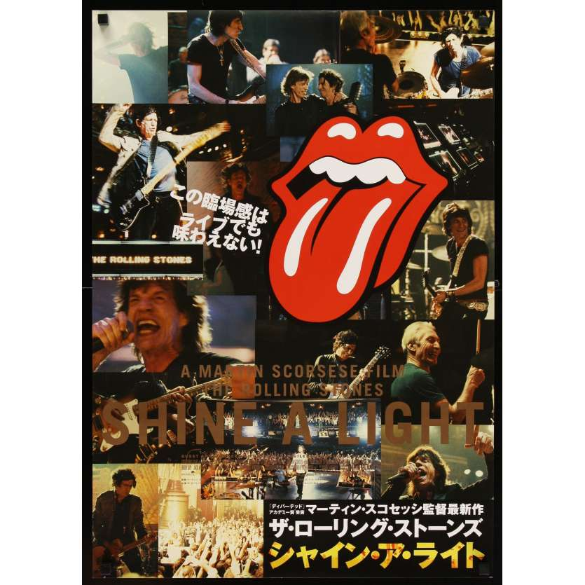 SHINE A LIGHT Japanese '08 Martin Scorcese's Rolling Stones documentary, concert images!
