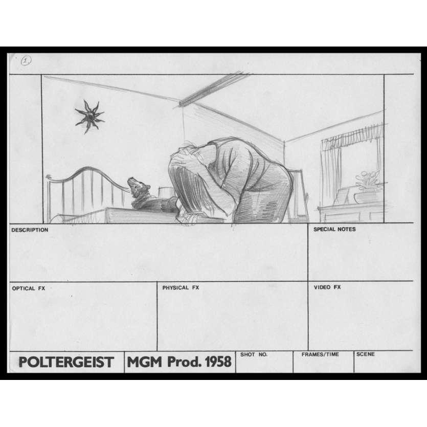 POLTERGEIST Original Handrawned Storyboard N5 '82 Steven Spielberg