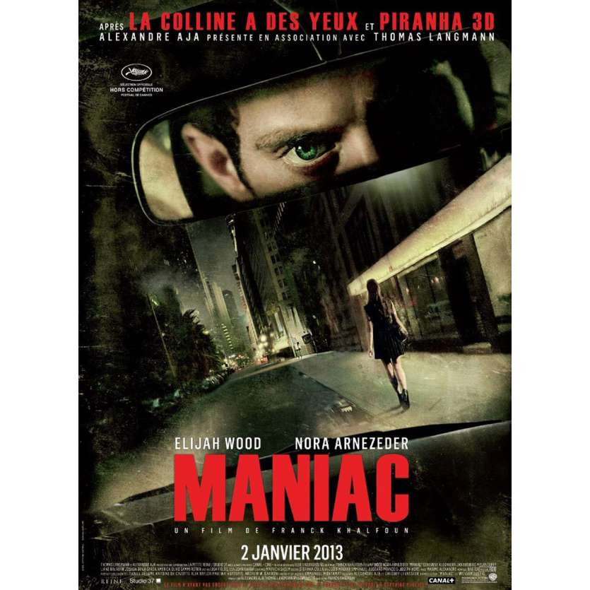 MANIAC French Movie poster 15x21 '12 Elijah Wood