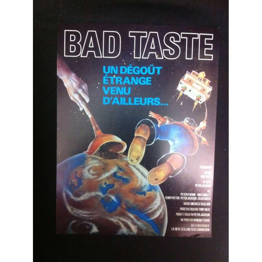 BAD TASTE Flyer d'époque '87 Peter Jackson