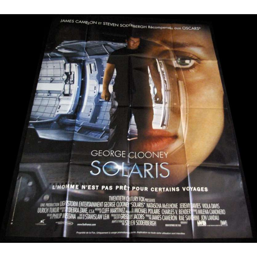 SOLARIS French Movie Poster Huge 47x63 '07 George Clooney, Soderbergh
