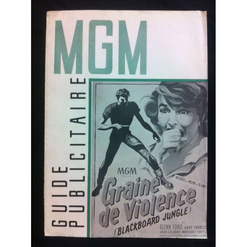GRAINE DE VIOLENCE Dossier de presse FR '55 Glen Ford Blackboard Jungle Pressbook