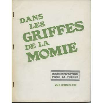 DANS LES GRIFFES DE LA MOMIE Dossier de presse original FR '66 Hammer, John Gilling Pressbook