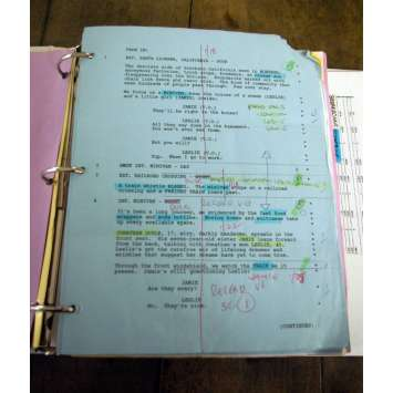 MORTUARY Bible de Production annotée '05 Tobe Hooper, Movie script