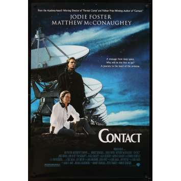 CONTACT Affiche Américaine '97 Jodie Foster, Matthew McConaughey, message from deep space!