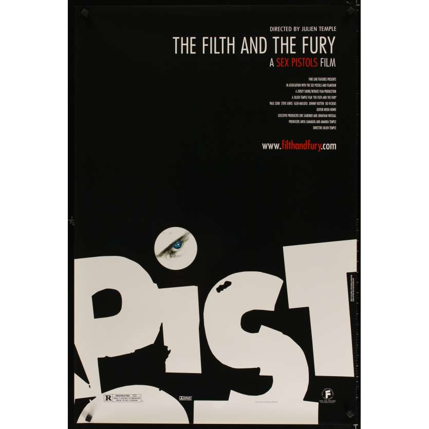 FILTH & THE FURY Affiche Américaine '00 Sex Pistols Julien Temple punk rock poster