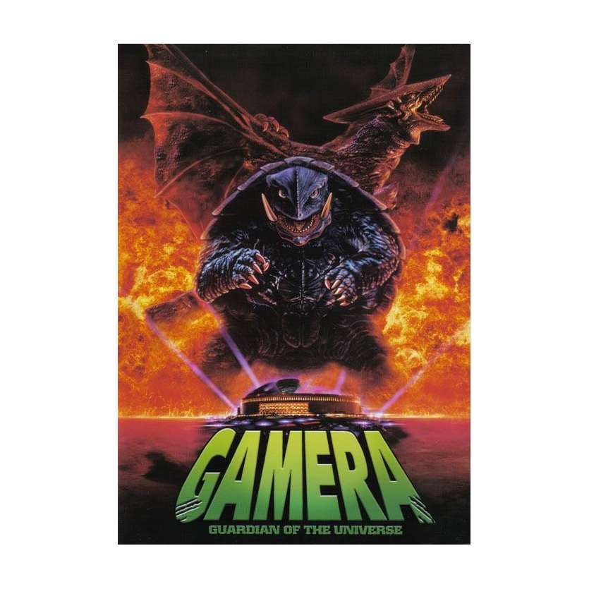 GAMERA GUARDIAN OF THE UNIVERSE Japanese program '95 Original Toho Godzilla